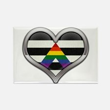 Ally Chrome Heart Rectangle Magnet
