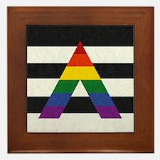 Ally Flag Framed Tile