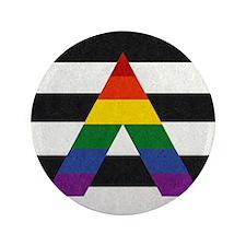 """Ally Flag 3.5"""" Button"""