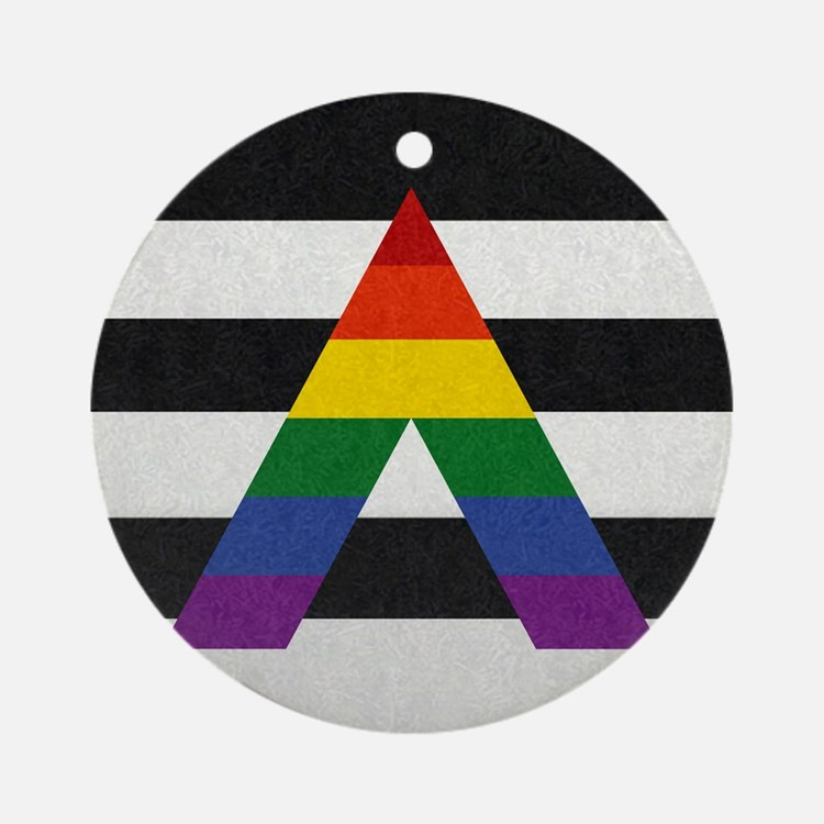 Ally Flag Ornament (Round)
