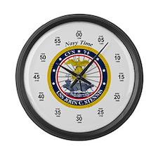 USS John C. Stennis CVN-74 Large Wall Clock