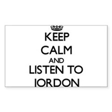 Keep Calm and Listen to Jordon Decal