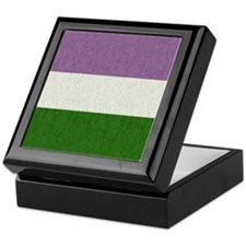 Genderqueer Flag Keepsake Box