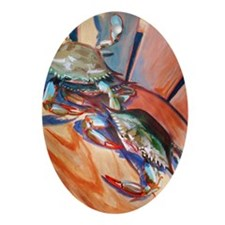 Maryland Blue Crabs Ornament (Oval)