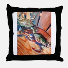Maryland Blue Crabs Throw Pillow