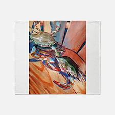Maryland Blue Crabs Throw Blanket