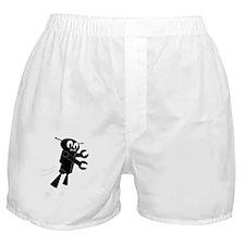 Black Flying Robot Boxer Shorts