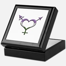Genderqueer Pride Gender Neutral Symb Keepsake Box
