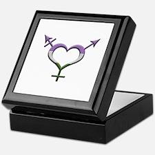 Genderqueer Pride Gender Neutral Symb Keepsake Box