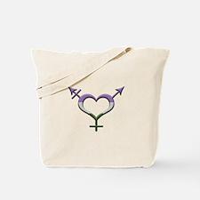 Genderqueer Pride Gender Neutral Symbol Tote Bag