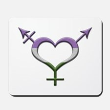 Genderqueer Pride Gender Neutral Symbol Mousepad