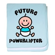 Future powerlifter baby blanket