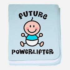Future powerlifter baby blanket