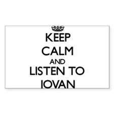 Keep Calm and Listen to Jovan Decal