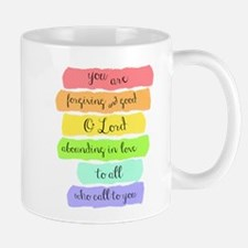Psalm 86:5 Rainbow Stripe Verse Mugs