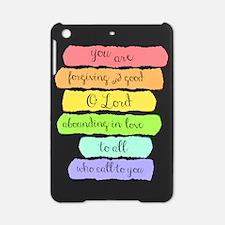 Psalm 86:5 Rainbow Stripe Verse iPad Mini Case