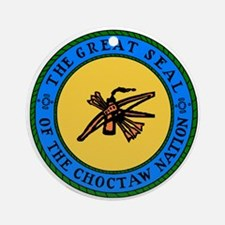 Great Seal Of The Choctaw Nation Ornament (round)