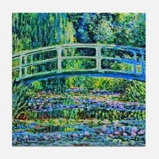 Monet - Water Lily Pond Tile Coaster