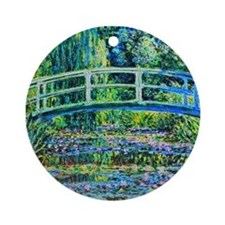 Monet - Water Lily Pond Ornament (Round)