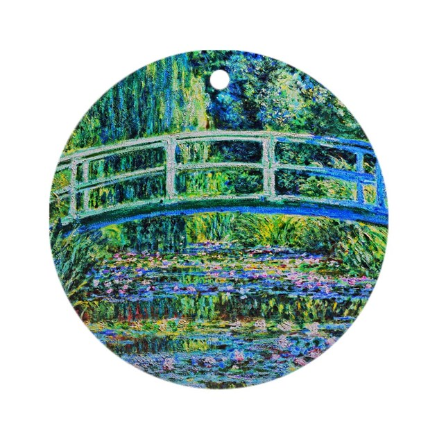 Monet water lily pond ornament round by oldmastershdr Pond ornaments