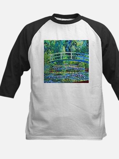 Monet - Water Lily Pond Kids Baseball Jersey