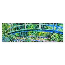 Monet - Water Lily Pond Bumper Sticker