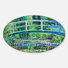 Monet - Water Lily Pond Sticker (Oval)
