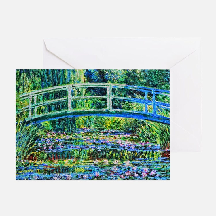 Monet - Water Lily Pond Greeting Card