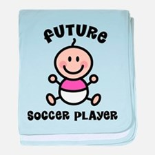 Future soccer player baby blanket