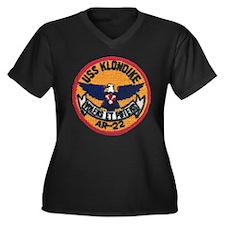 USS KLONDIKE Women's Plus Size V-Neck Dark T-Shirt