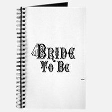 Bride To Be With Veil, Fancy Black Type Journal