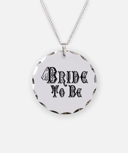 Bride To Be With Veil, Fancy Black Type Necklace