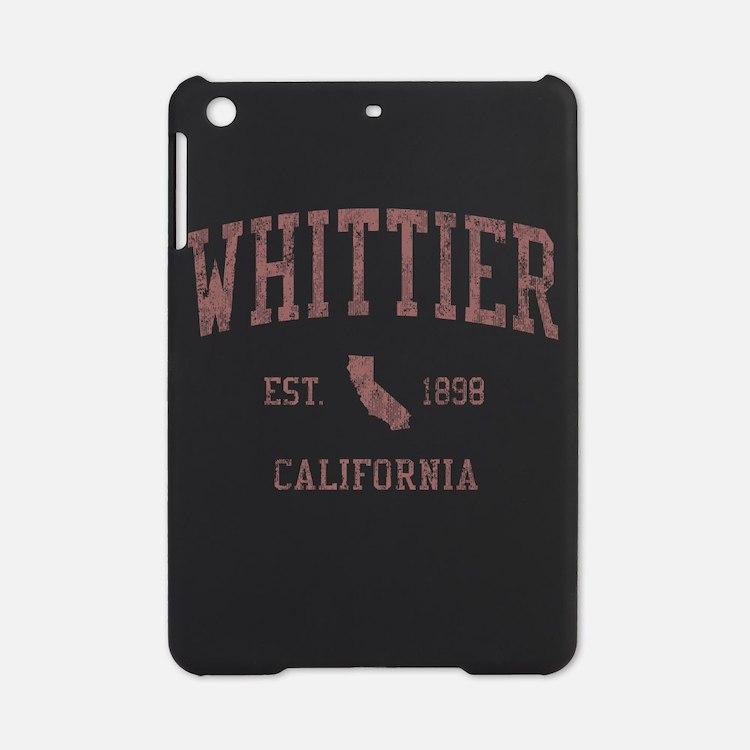 Whittier California CA Red iPad Mini Case