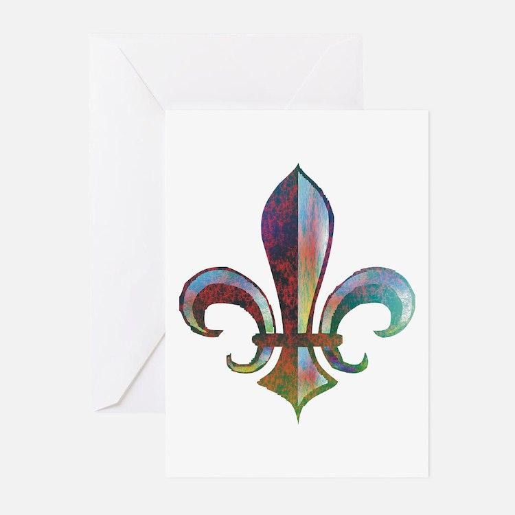 Fleur de Lis Greeting Cards (Pk of 10)