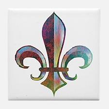 Fleur de Lis Tile Coaster
