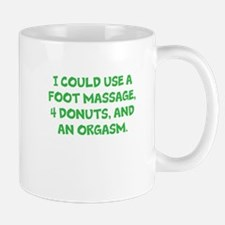 Foot massage, orgasm, donuts - Green Mugs