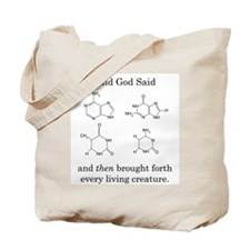 God Created DNA Tote Bag
