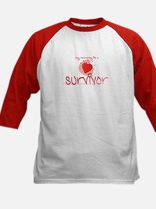 Kid Baseball Jersey - My Mommy is a Survivor