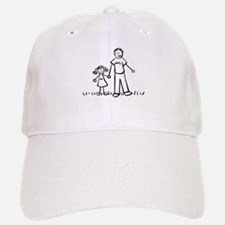 Father and Daughter Drawing Baseball Baseball Baseball Cap