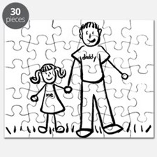 Father and Daughter Drawing Puzzle