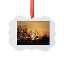evening glow sunset Ornament