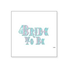 Bride To Be With Veil, Fancy Pink and Teal Type St