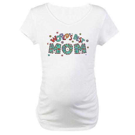 World's Best Mom Maternity T-Shirt