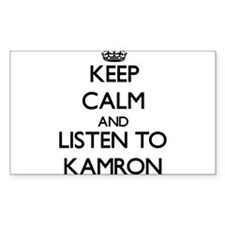 Keep Calm and Listen to Kamron Decal