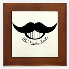Mustache Smile Framed Tile