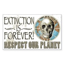 Extinction is Forever Rectangle Decal