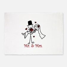 Mr And Mrs 5'x7'Area Rug