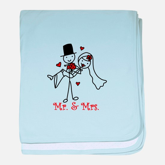Mr And Mrs baby blanket