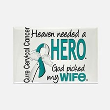 Cervical Cancer HeavenNeededHero1 Rectangle Magnet