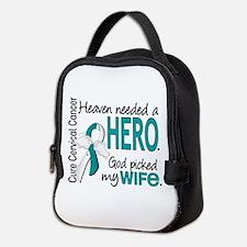 Cervical Cancer HeavenNeededHer Neoprene Lunch Bag